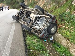 Φωτογραφία για Ανατροπή οχήματος του Λιμενικού στον δρόμο Αμφιλοχία-Βόνιτσα (φωτο)