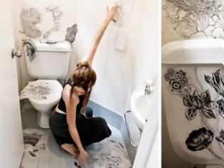 Φωτογραφία για ΚΑΤΑΣΚΕΥΕΣ - Βαρέθηκε το άσπρο και μονότονο μπάνιο της. Δείτε πως το Μεταμόρφωσε!