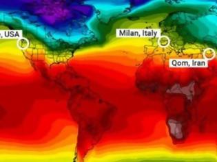 Φωτογραφία για Κορωνοϊός και κλίμα: Αυτή είναι η οριζόντια «γραμμή του θανάτου» στον πλανήτη!