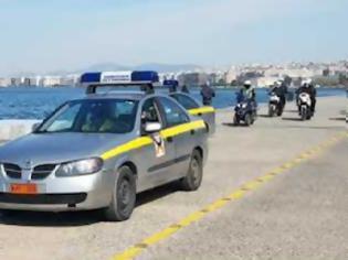 Φωτογραφία για Αστυνομικοί με ντουντούκες στο δρόμο