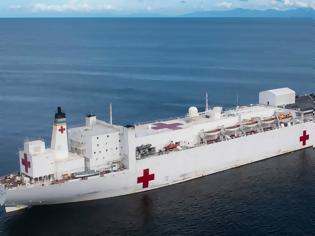 Φωτογραφία για Το μεγαλύτερο πλωτό νοσοκομείο έφτασε στην Νέα Υόρκη