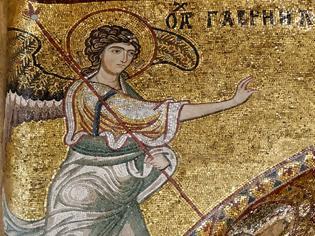 Φωτογραφία για Ο αρχάγγελος Γαβριήλ. Ψηφιδωτό στη Μαρτοράνα, Παλέρμο (12ος αι.)