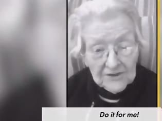 Φωτογραφία για Κορονοϊός: Το συγκινητικό μήνυμα ηλικιωμένων στις ΗΠΑ - Κάντε το για εμένα (video)
