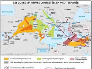 Φωτογραφία για Γαλλικός χάρτης περιλαμβάνει το τουρκολιβυκό Μνημόνιο και «γκριζάρει» το μισό Αιγαίο και ελληνικά νησιά