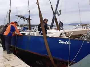 Φωτογραφία για Επιχείρηση ανέλκυσης βυθισμένου σκάφους από το λιμάνι της ΒΟΝΙΤΣΑΣ, με πρωτοβουλία του Δημοτικού Λιμενικού Ταμείου!