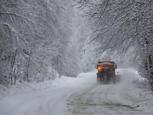 Φωτογραφία για Κακοκαιρία: Χιονίζει στα ορεινά των Τρικάλων