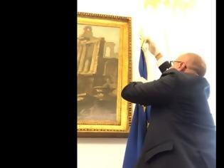 Φωτογραφία για Ιταλία: Ο αντιπρόεδρος της βουλής κατέβασε τη σημαία της ΕΕ