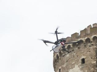 Φωτογραφία για Με drone ενημερώνονται οι πολίτες στην παραλία της Θεσσαλονίκης