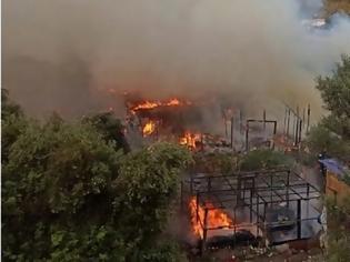 Φωτογραφία για Σάμος: Μεγάλη φωτιά στο κέντρο προσφύγων - μεταναστών