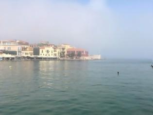 Φωτογραφία για ΦΩΤΟΣ.Τι είναι το φαινόμενο της «μεταφερόμενης ομίχλης» που εμφανίστηκε στα Χανιά