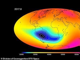 Φωτογραφία για Πλανήτης Γη: Εξασθενεί το μαγνητικό πεδίο μεταξύ Αφρικής και Νότιας Αμερικής