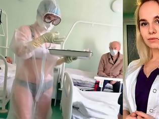 Φωτογραφία για Αυτή είναι η viral Ρωσίδα νοσηλεύτρια - Της πρότειναν να γίνει μοντέλο για εσώρουχα