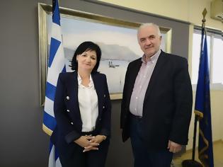 Φωτογραφία για Συνεργασία Κώστα Λύρου και Μαρίας Σαλμά για θέματα πολιτικής προστασίας,