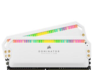 Φωτογραφία για Η Corsair κυκλοφορεί τη Dominator Platinum White RGB μνήμη