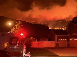 Φωτογραφία για ΗΠΑ: Μεγάλη φωτιά στη Γιούτα - Απειλούνται σπίτια, εκκενώνονται οικισμοί -βίντεο