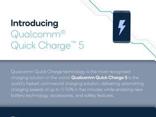Φωτογραφία για Qualcomm Quick Charge 5: Νέο πρότυπο για φόρτιση 0-50% σε 5 λεπτά