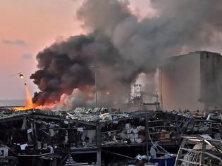 Φωτογραφία για Κόλαση στη Βηρυτό- Ανατινάχτηκαν 2.750 τόνοι νιτρικού αμμωνίου!