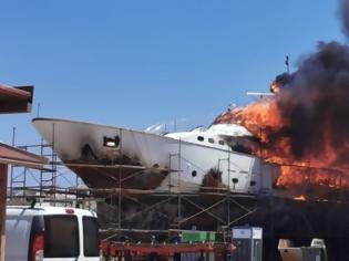 Φωτογραφία για Σύρος: Φωτιά στο ναυπηγείο του Ταρσανά