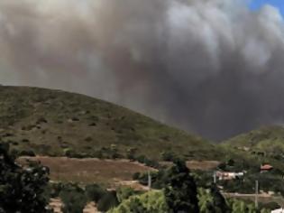 Φωτογραφία για Εκκενώνεται για προληπτικούς λόγους ο οικισμός Φέριζα στην Κερατέα όπου έχει ξεσπάσει μεγάλη πυρκαγιά.