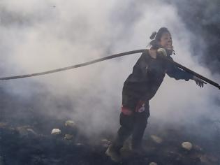Φωτογραφία για Φωτιά  - Η ηρωίδα που έδωσε μάχη με τις φλόγες
