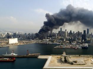 Φωτογραφία για Βηρυτός: Για «δολιοφθορά» κάνει λόγο ο πρόεδρος του Λιβάνου για την πυρκαγιά που ξέσπασε στο λιμάνι