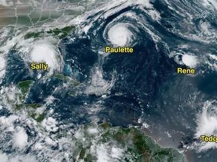 Φωτογραφία για Πέντε κυκλώνες τρομάζουν τις ΗΠΑ - Η Σάλι φτάνει ανέμους 150 χλμ/ώρα