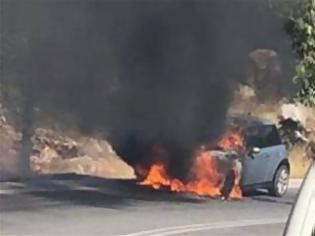 Φωτογραφία για Η φωτιά σε ενα ΜΙΝΙ παραλίγο να ξανα κάψει τον Διόνυσο