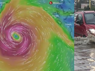 Φωτογραφία για Κακοκαιρία «Ιανός»: Τα σενάρια για την πορεία της καταιγίδας