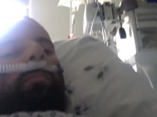 Φωτογραφία για 34χρονος Έλληνας που ξύπνησε από κώμα λόγω του ιού απαντά στους αρνητές