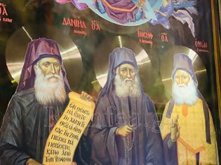 Φωτογραφία για Η Εικόνα των νέων Αγιορειτών Αγίων στο Καθολικό της Ι. Μ. Βατοπαιδίου