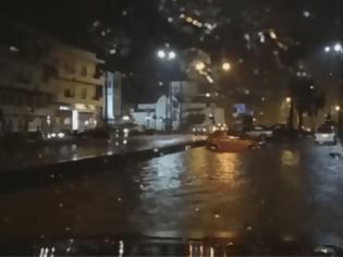 Φωτογραφία για Κρήτη - Έπεσε το… ταβάνι στο «Νίκος Καζαντζάκης» - Ποτάμια οι δρόμοι, πλημμύρισαν υπόγεια