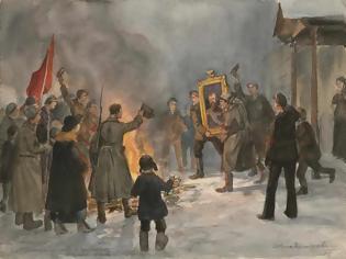 Φωτογραφία για Έργα ζωφραφικής που  αντικατοπτρίζουν την αγριότητα και την κτηνωδία της επανάστασης του 1917