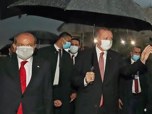 Φωτογραφία για Η βροχή χάλασε το σόου Ερντογάν με πικ νικ στην Αμμόχωστο - Θέλει «λύση» δύο κρατών