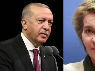 Φωτογραφία για Επικοινωνία Φον ντερ Λάιεν-Ερντογάν εν μέσω τουρκικών προκλήσεων