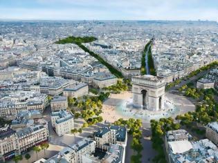 Φωτογραφία για Παρίσι κάνει «λίφτινγκ» - Η θρυλική λεωφόρος Champs-Élysées μετατρέπεται σε απέραντο κήπο