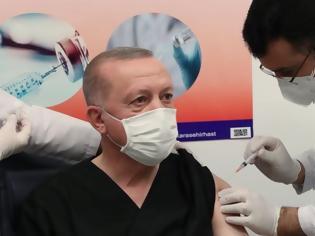 Φωτογραφία για Τουρκία: Εμβολιάστηκε με το κινεζικό σκεύασμα ο Ερντογάν