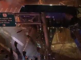Φωτογραφία για Νέα Υόρκη: Λεωφορείο με επιβάτες έπεσε από γέφυρα