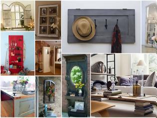 Φωτογραφία για 50+ Κατασκευές για το σπίτι από Παλιά Παράθυρα - Πόρτες