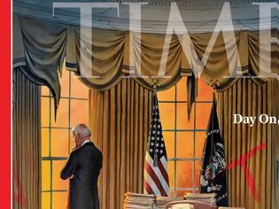 Φωτογραφία για Καθηλώνει το εξώφυλλο του TIME - Ο Τζο Μπάιντεν μέσα στο... κατεστραμμένο Οβάλ γραφείο