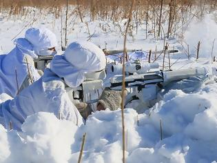 Φωτογραφία για Ρωσία: Στους -35 βαθμούς Κελσίου εκπαιδεύονται οι στρατιώτες
