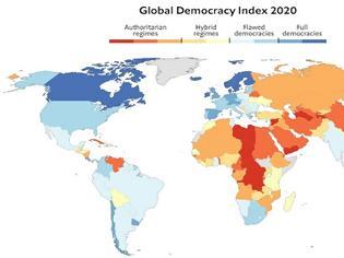 Φωτογραφία για Economist :Μόλις το 8,4% του παγκόσμιου πληθυσμού ζει πλέον σε πλήρη Δημοκρατία λόγω των μέτρων! – Η θέση της Ελλάδας