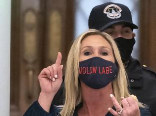 Φωτογραφία για Η βουλευτής με την μάσκα «Μολών Λαβέ» που πιστεύει στην συνωμοσία QAnon και σε... διαστημικά λέιζερ