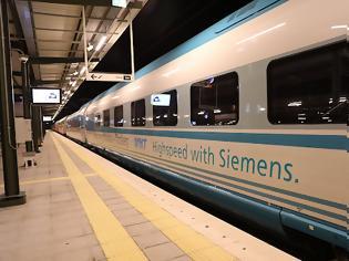 Φωτογραφία για Η Τουρκία παρέλαβε το 12ο τρένο «υψηλής ταχύτητας» από την γερμανική Siemens.