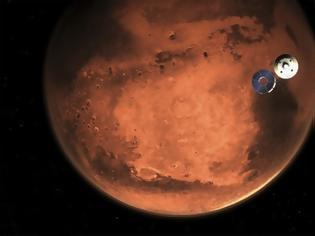 Φωτογραφία για Ιστορική στιγμή: Το ρόβερ της NASA προσεδαφίστηκε στον Άρη -Η πρώτη εικόνα που έστειλε