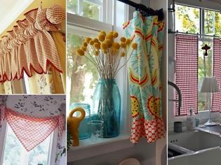 Φωτογραφία για 50+ Ιδέες για τις Κουρτίνες της Κουζίνας