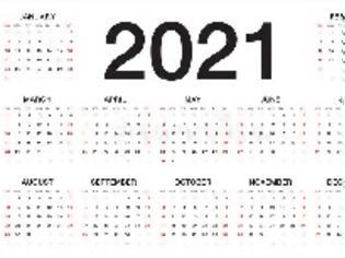 Φωτογραφία για Αργίες και τριήμερα του 2021: Πότε πέφτουν Τσικνοπέμπτη, Καθαρά Δευτέρα και όλα τα τριήμερα