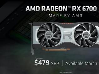 Φωτογραφία για AMD Radeon RX 6700 XT: Για gaming σε ανάλυση 1440p/60fps με τιμή $479