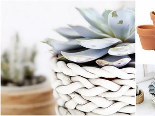 Φωτογραφία για Διακόσμηση σε πήλινες γλάστρες με έτοιμο πηλό