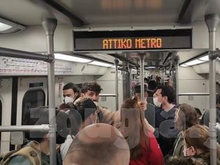 Φωτογραφία για Συνωστισμός σε μετρό και ηλεκτρικό σε περιοχές της Αθήνας.