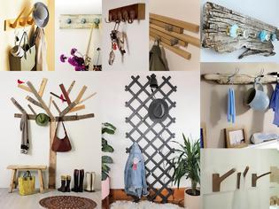 Φωτογραφία για 10 Εντυπωσιακές και πρακτικές DIY Κρεμάστρες τοίχου